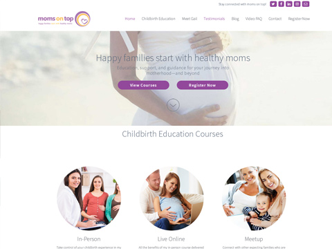 Moms On Top - happy families starts with healthy moms